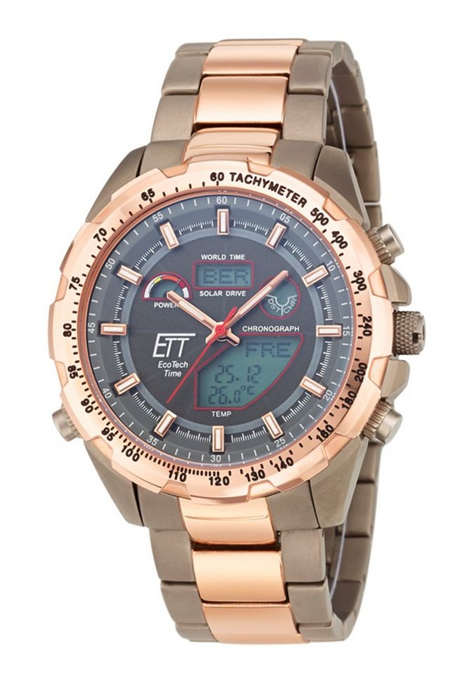 ETT Funkchronograph »EGT-11278-21M« in grau-roségoldfarben