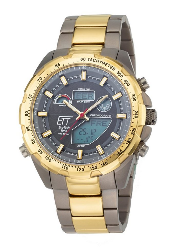 ETT Funkchronograph »EGT-11272-21M« in grau-goldfarben