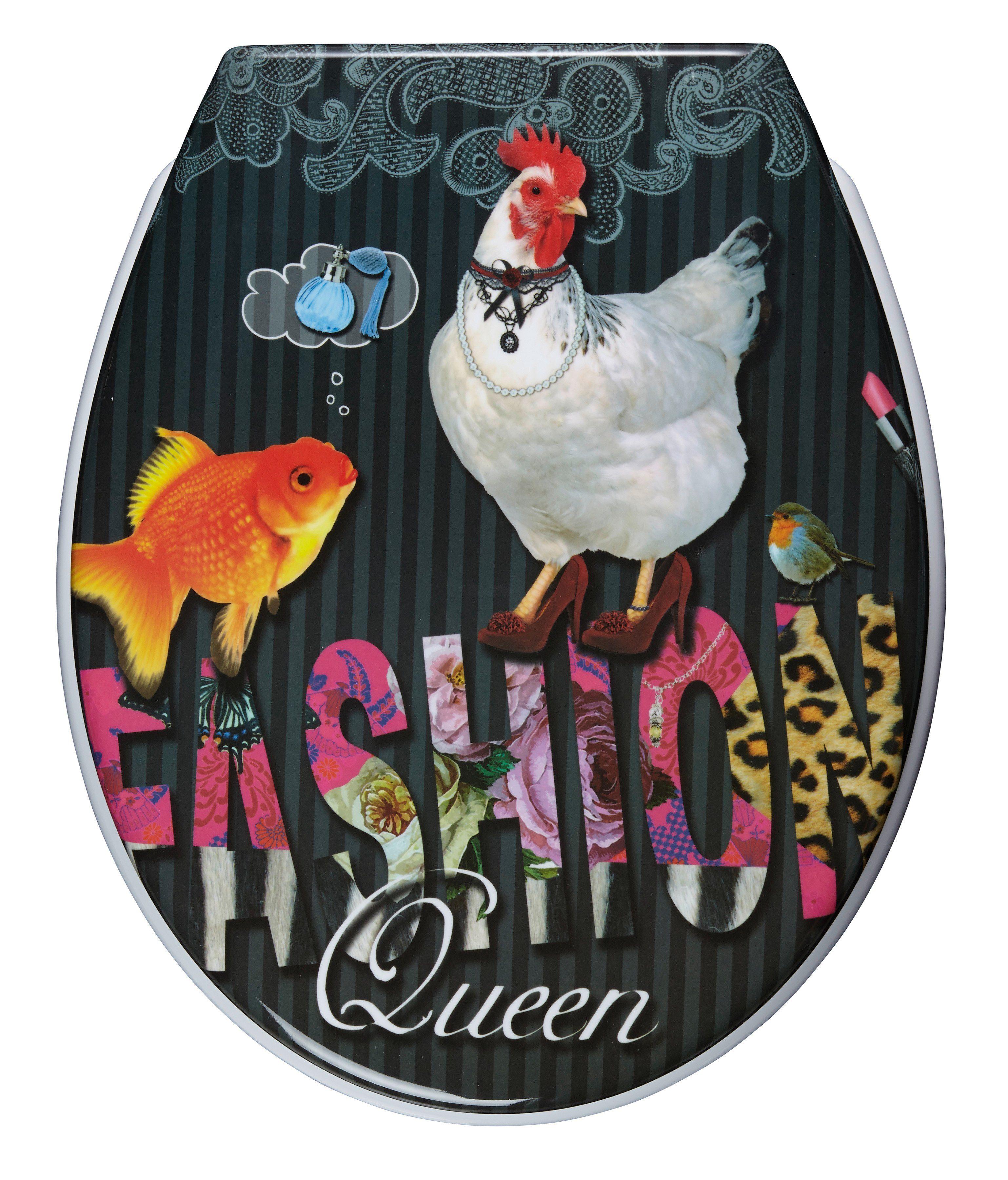 WC-Sitz »Fashion Queen«, Mit Absenkautomatik