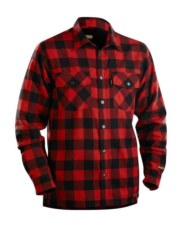 Flanellhemd gefüttert in rot/schwarz