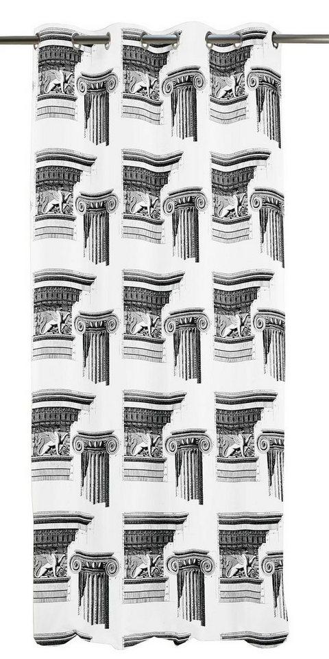 Gardine, Apelt, »Apollo«, mit Ösen (1 Stck.) in grau/weiß
