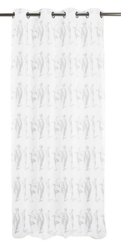 Vorhang, Apelt, »Circus«, mit Ösen (1 Stück) in weiß