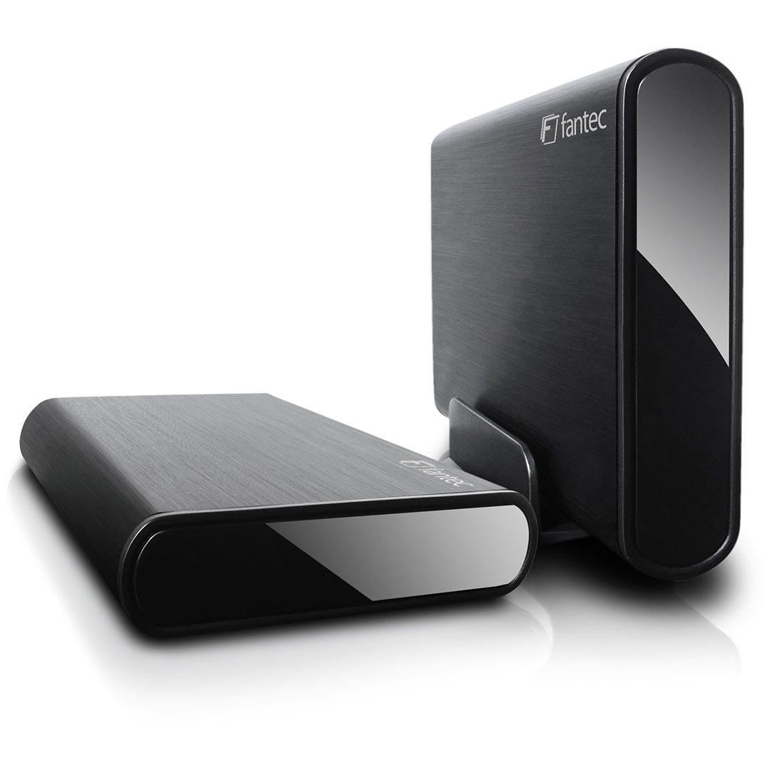 FANTEC Festplattengehäuse » DB-ALU3e schwarz USB 3.0 eSATA (1479)«