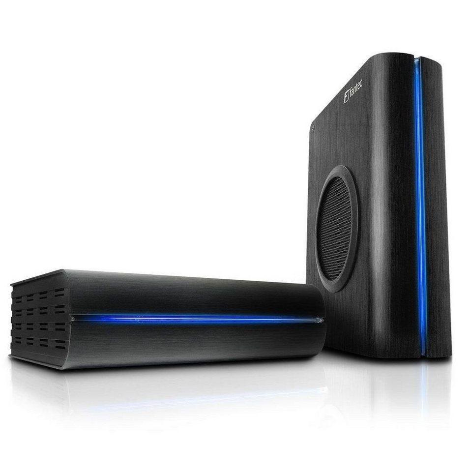 FANTEC Festplattengehäuse » DB-F8U3e schwarz USB 3.0 eSATA (1564)« in schwarz