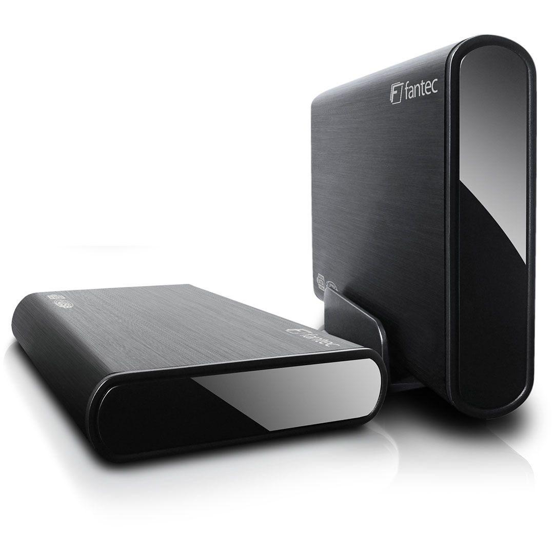 FANTEC Festplattengehäuse » DB-ALU2e schwarz USB2.0 eSATA (1446)«