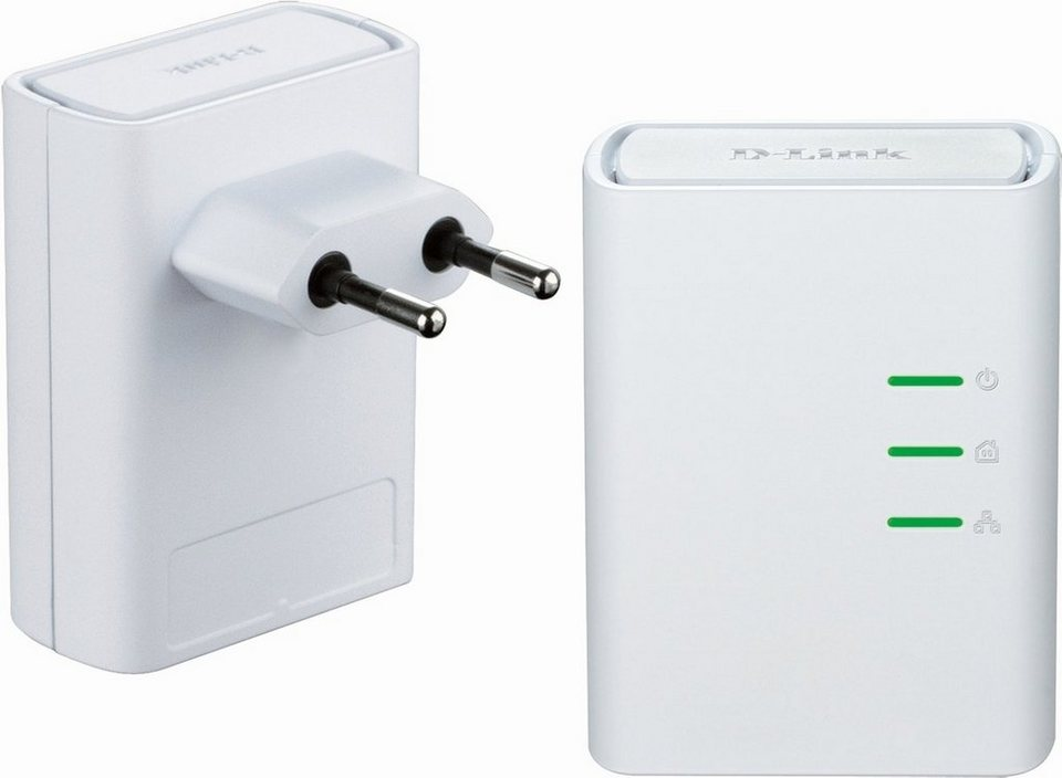 D-Link PowerLine »PowerLine DHP-509AV/E (500 Mbit/s) HD Starter Kit« in Weiß