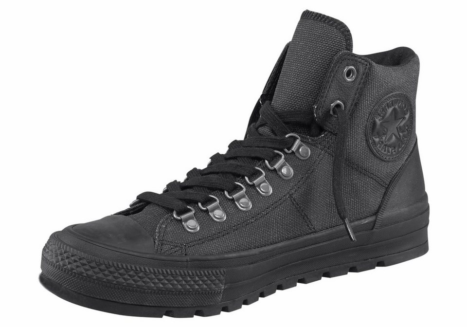 Converse CTAS Street Hiker Waxed Canvas Sneaker in Schwarz