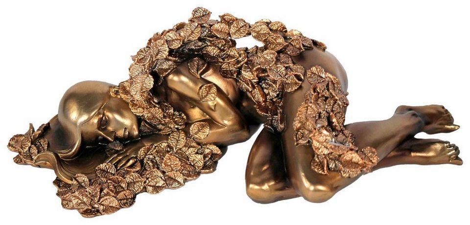 Home affaire Dekofigur »Frauen Skulptur«, liegend in goldfarben