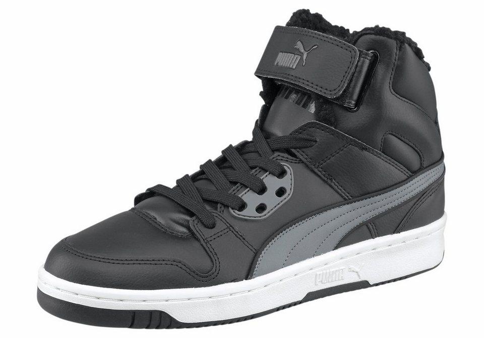 PUMA Rebound Street Fur Sneaker in Schwarz-Grau