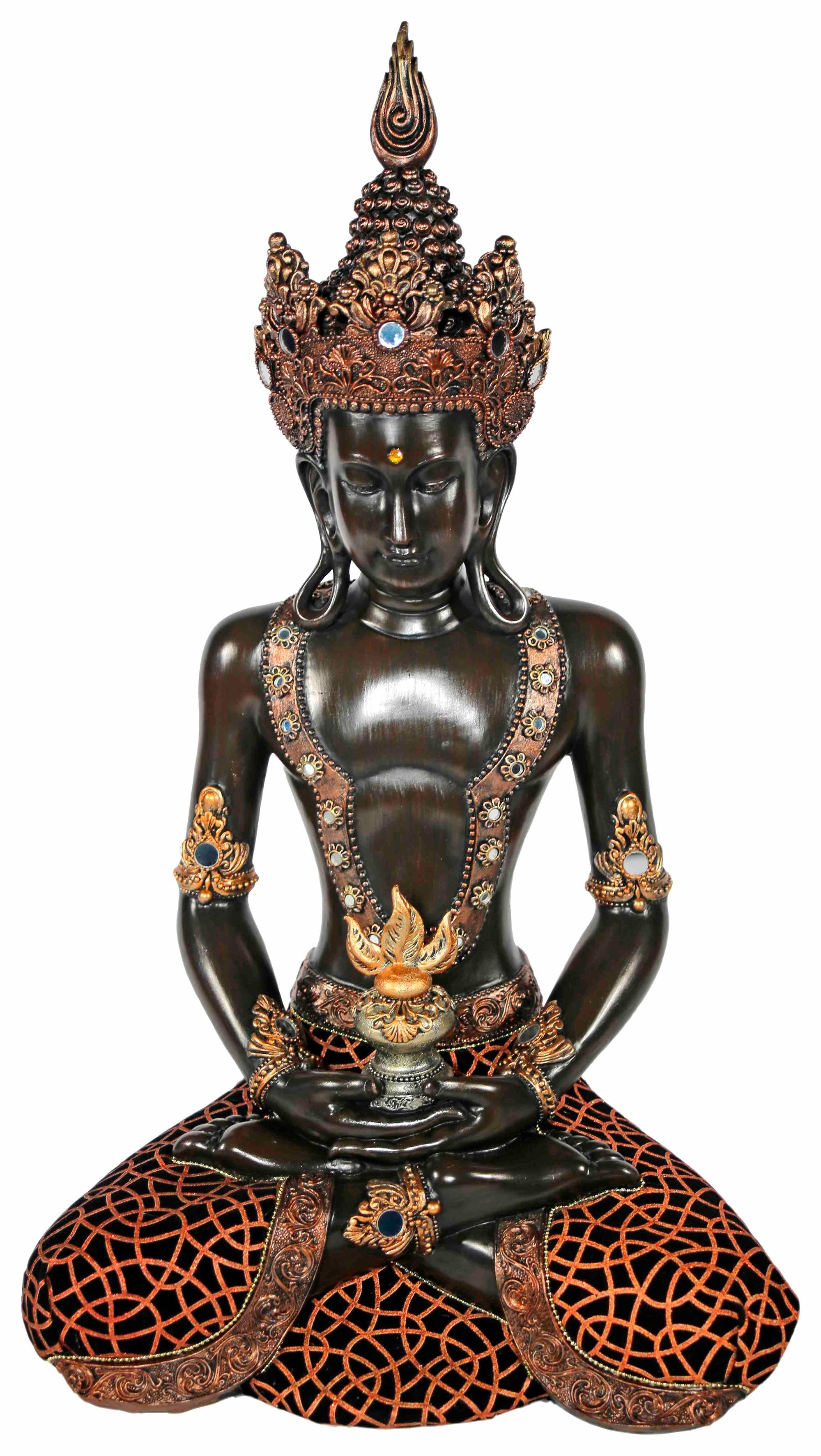 Home affaire Dekofigur »Buddha im Lotussitz«