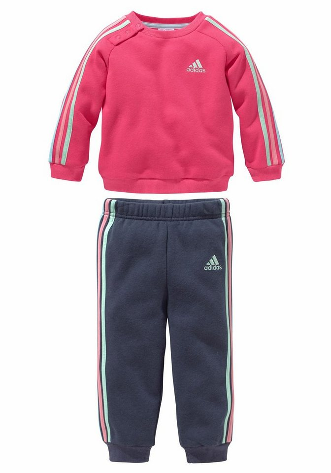adidas Performance INFANTS 3-STRIPES JOGGER Jogginganzug in Pink-Blau