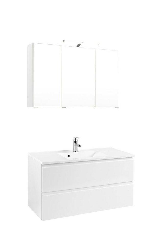 Badmöbel-Set »Cardiff«, Breite 100 cm, 2-tlg. in weiß