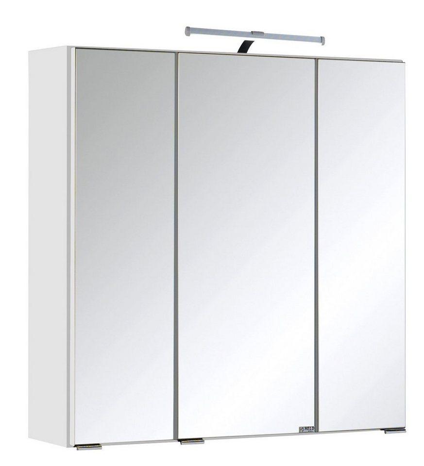 Held Möbel Spiegelschrank »Cardiff« Breite 60 cm, mit LED-Beleuchtung in weiß