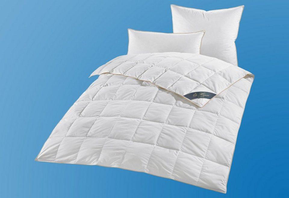 daunenbettdecke lena hanse by ribeco leicht f llung 90 daunen 10 federn bezug 100. Black Bedroom Furniture Sets. Home Design Ideas