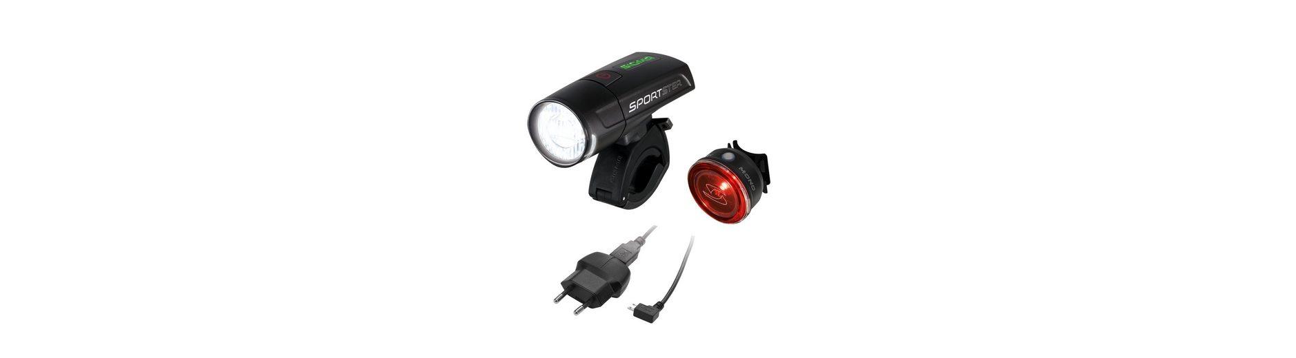 Sigma Sport 4er Set: LED Fahrradbeleuchtung, black, »Sportster Mono RL Komplettset«