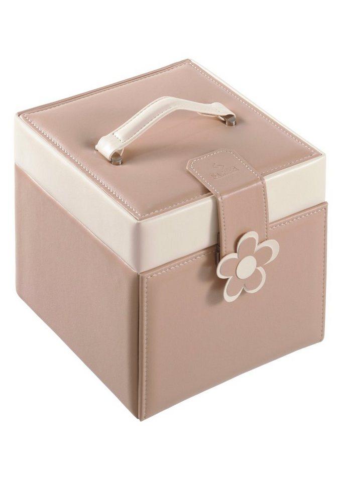 Sacher Schmuckkoffer mit Blütenapplikation in beige