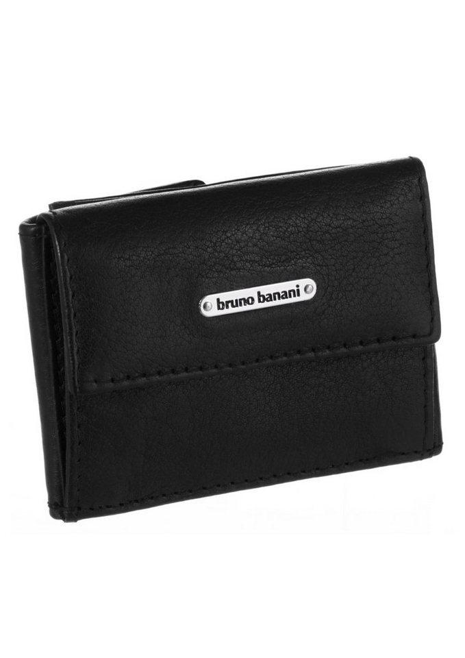 Bruno Banani Minigeldbörse aus Leder in schwarz
