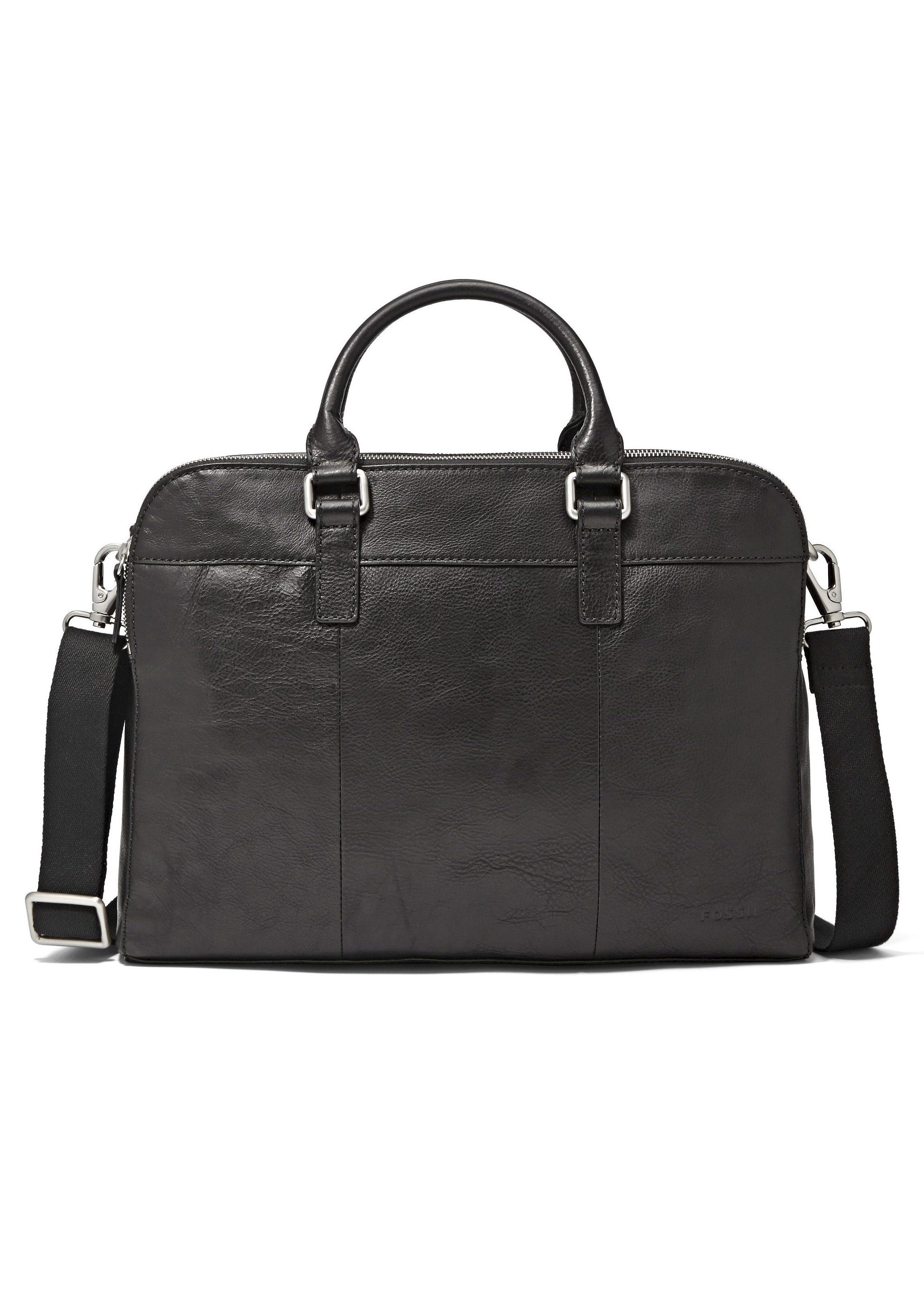 Fossil Messenger Bag »MERCER DOUBLE ZIP WORKBAG« aus Leder