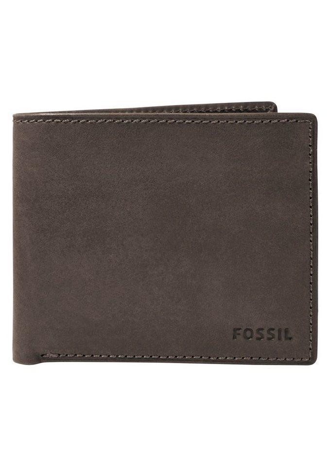 Fossil Geldbörse »NOVA LARGE COIN POCKET« aus Leder in braun