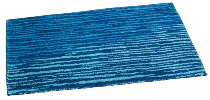 Badematte, Schöner Wohnen, »Mauritius2«, Höhe 20 mm, rutschhemmender Rücken in blau