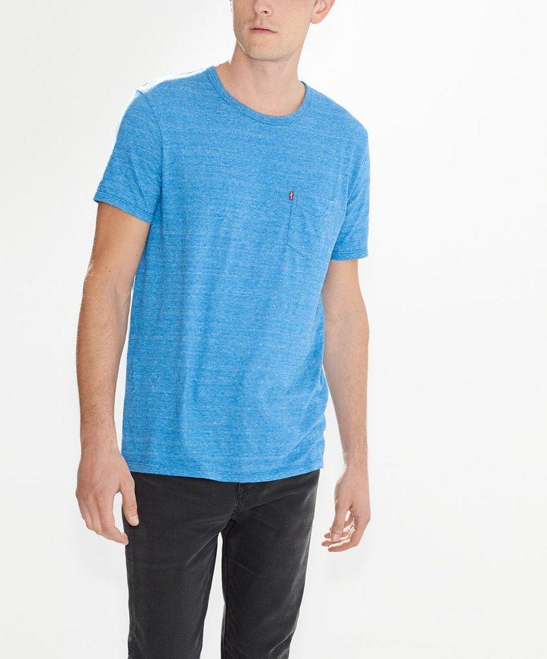 Levi's® T-Shirt »Sunset Pocket Tee« in Dark Blue Tri-Blend