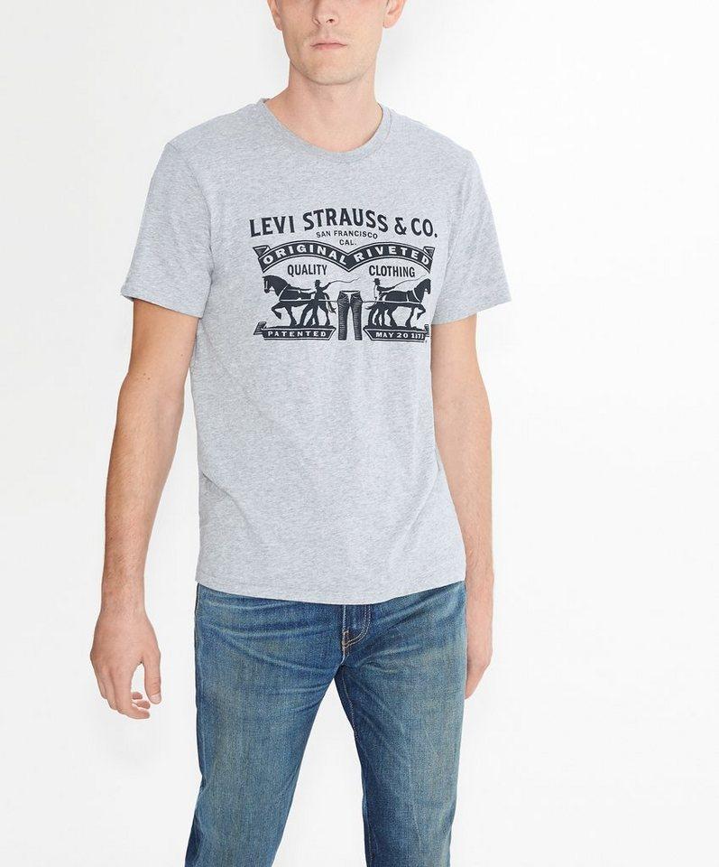 Levi's® T-Shirt in mittelgrau-meliert