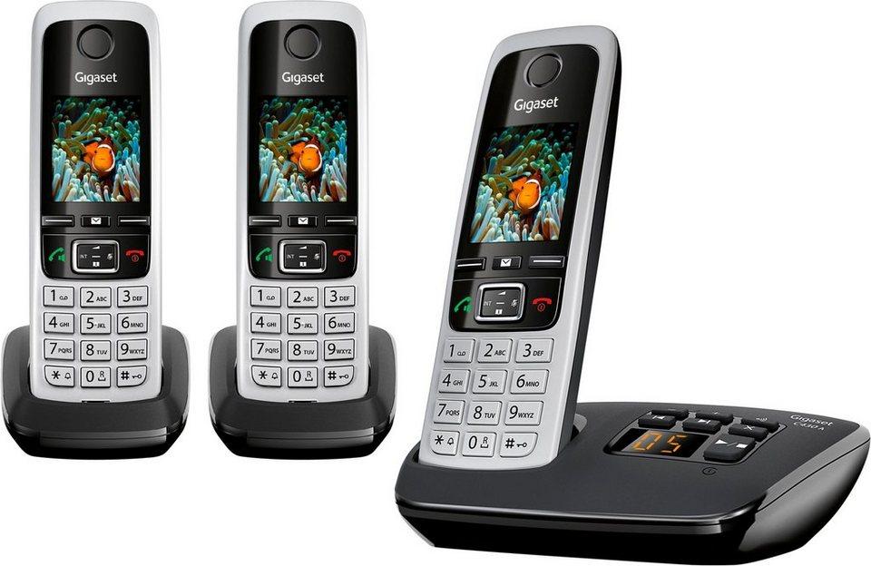 gigaset c430a trio schnurloses dect telefon mobilteile. Black Bedroom Furniture Sets. Home Design Ideas