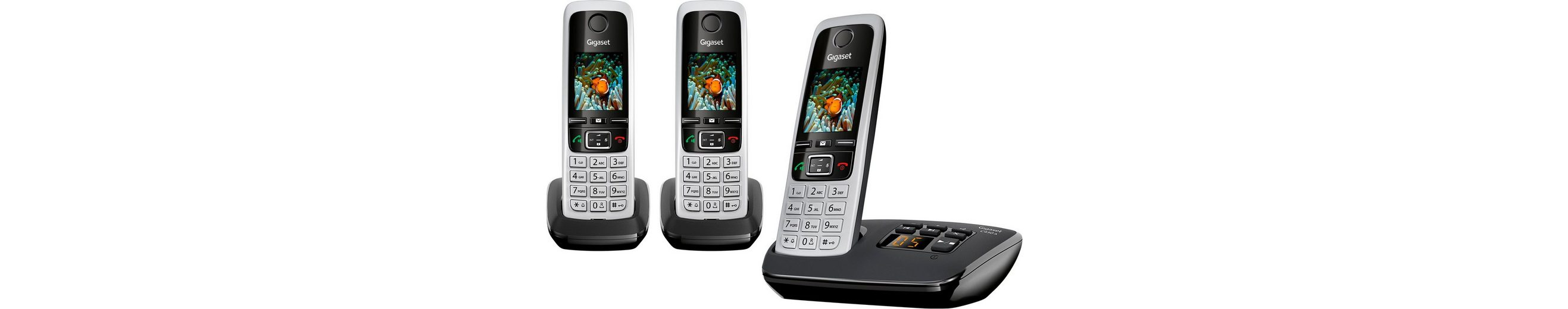 Gigaset C430 A TRIO Schnurloses DECT Telefon-Set mit AB
