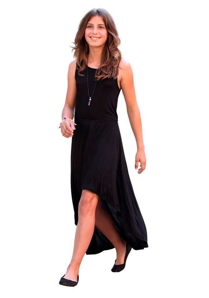 CFL Vokuhila-Kleid in leichter Jersey-Qualität in schwarz