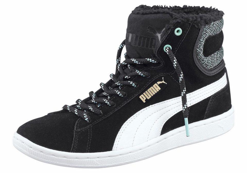 PUMA Vikky Mid Marl Sneaker in Schwarz-Weiß