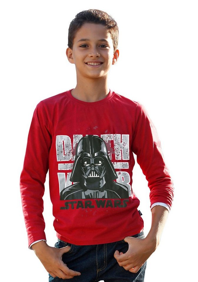 "Star Wars Langarmshirt ""DARTH VADER"" in rot"