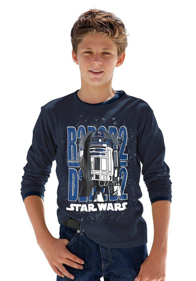 "Star Wars Langarmshirt ""R2-D2"" in marine"