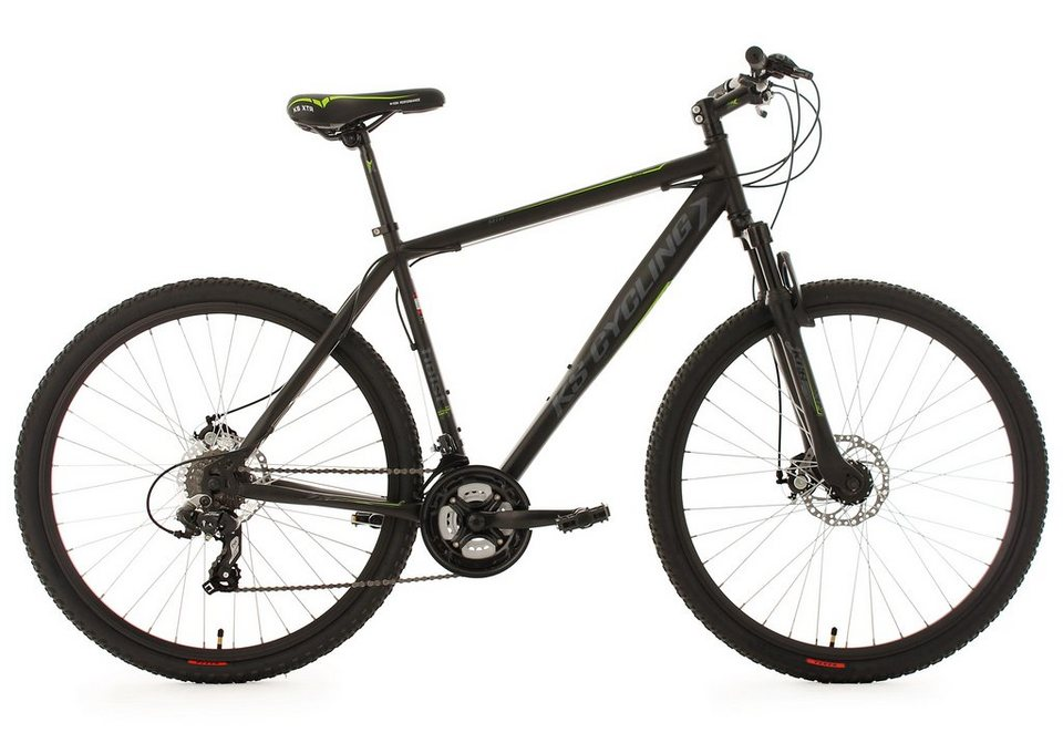 ks cycling hardtail mountainbike 27 5 zoll schwarz 24. Black Bedroom Furniture Sets. Home Design Ideas