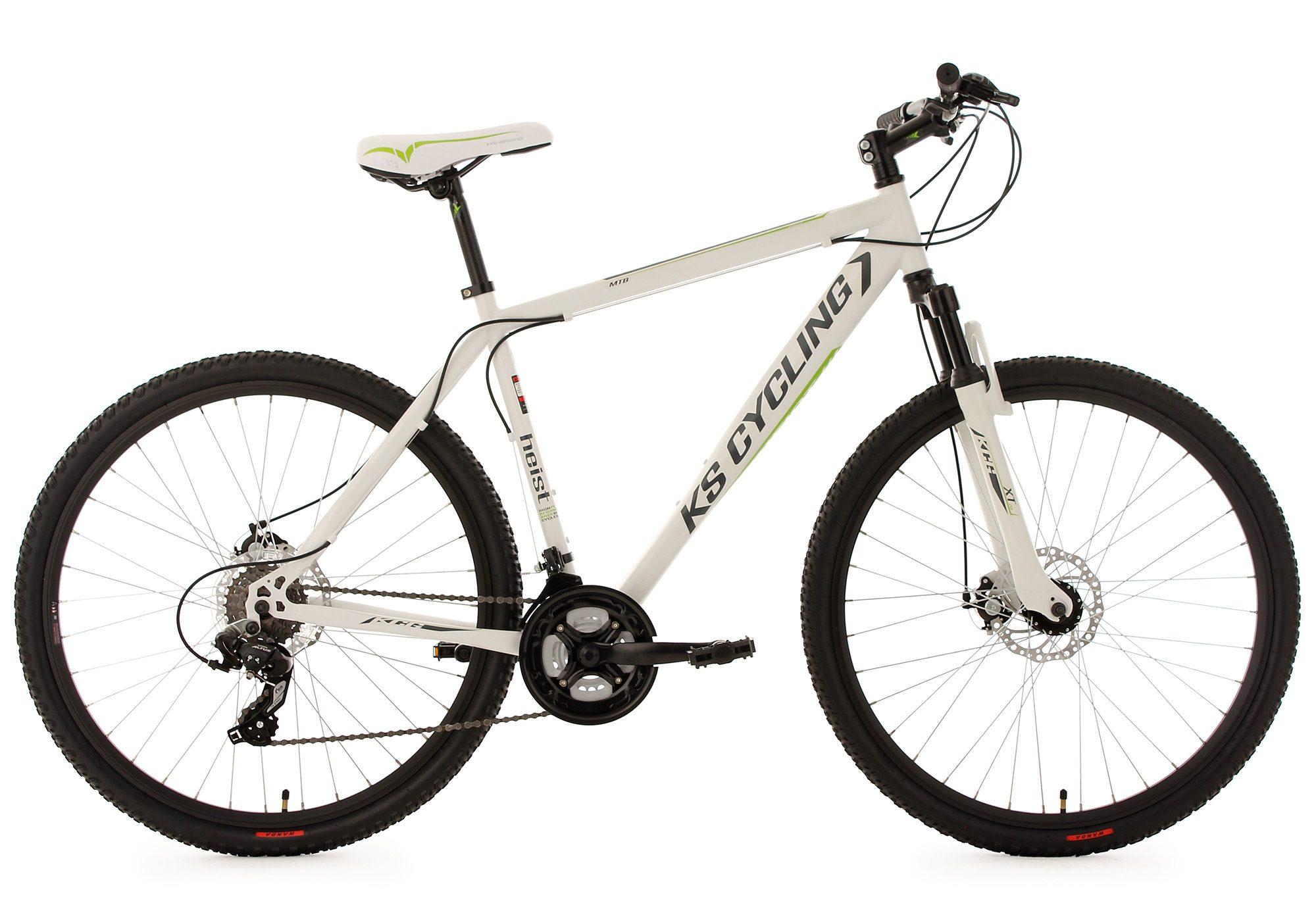 KS Cycling Hardtail Mountainbike, 27,5 Zoll, weiß, 24 Gang Kettenschaltung, »Heist«