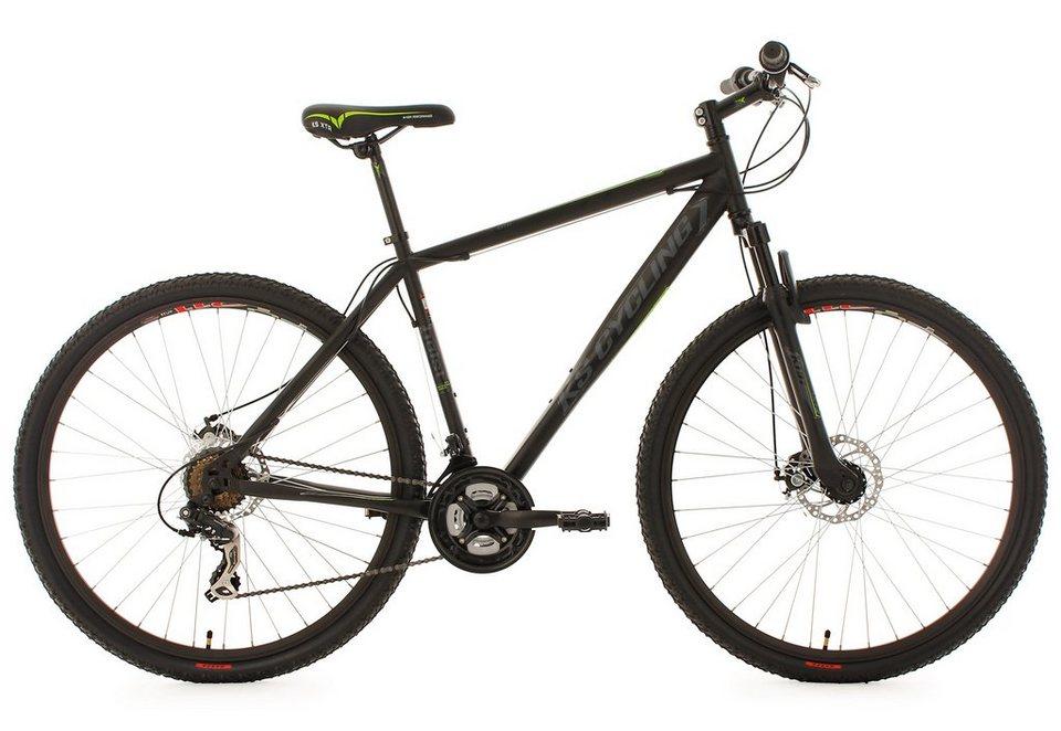 KS Cycling Hardtail Mountainbike, 29 Zoll, schwarz, 21 Gang Kettenschaltung, »Heist« in schwarz