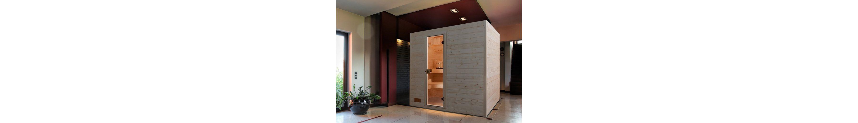 Sauna »Vaasa 2«, 237/187/203,5 cm, 38 mm, 7,5-KW-Ofen