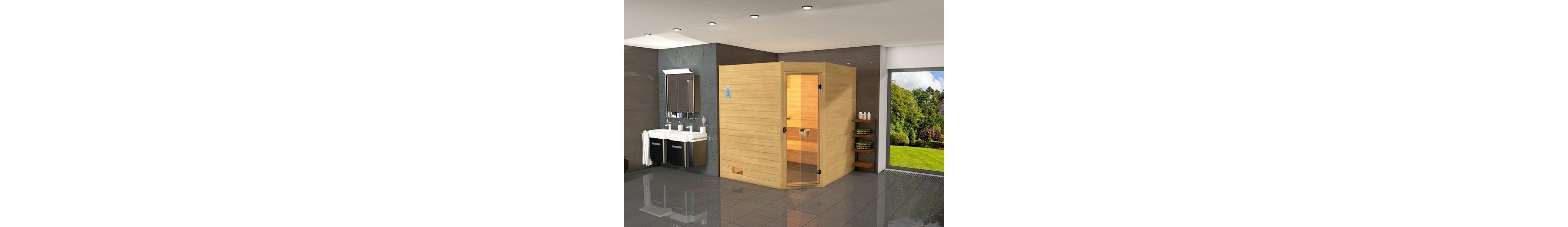 Sauna »Vaasa 3«, 237/187/203,5 cm, 7,5-KW-Ofen mit ext. Steuerung