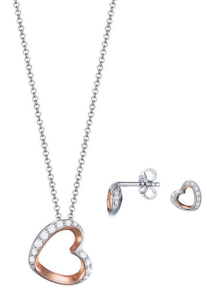 "ESPRIT 3-tlg. Set ""ESPRIT-JW50023 Bicolor, ESSE90991D420"" in Silber 925/bicolor"