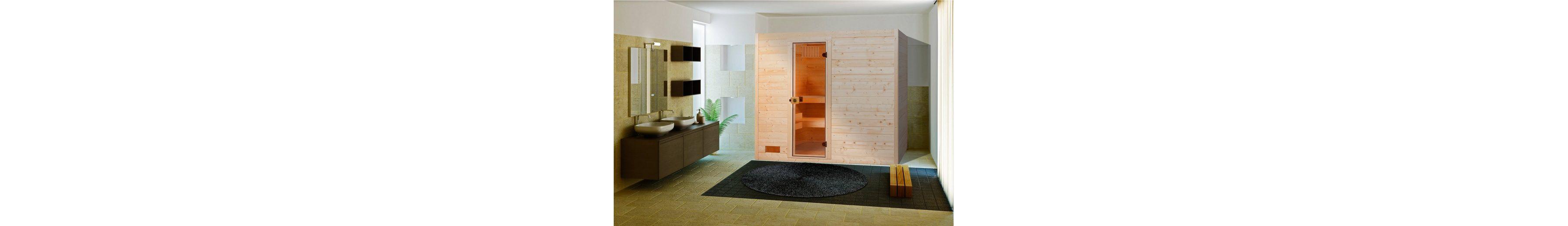Sauna »Lars Trend 1«, 187/137/203,5 cm, 38 mm, 7,5-KW-Ofen