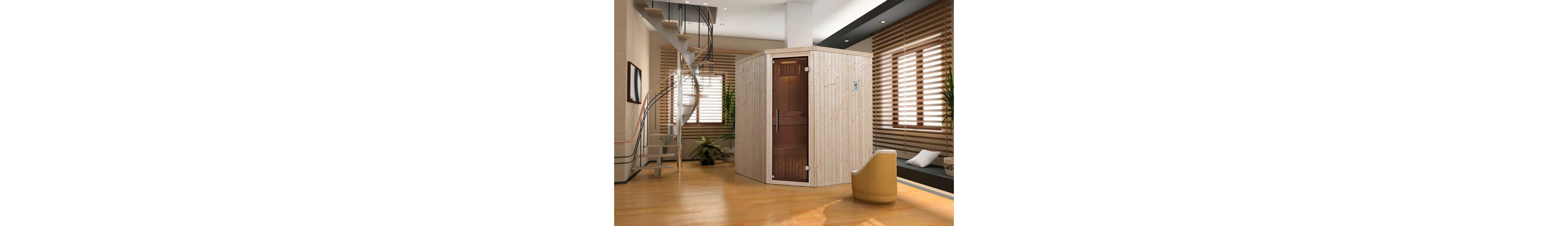 Sauna »Lyngdal 3 Trend Plus BioS«, 192/175/199 cm, 68 mm, 7,5-KW-Bio-Kombiofen