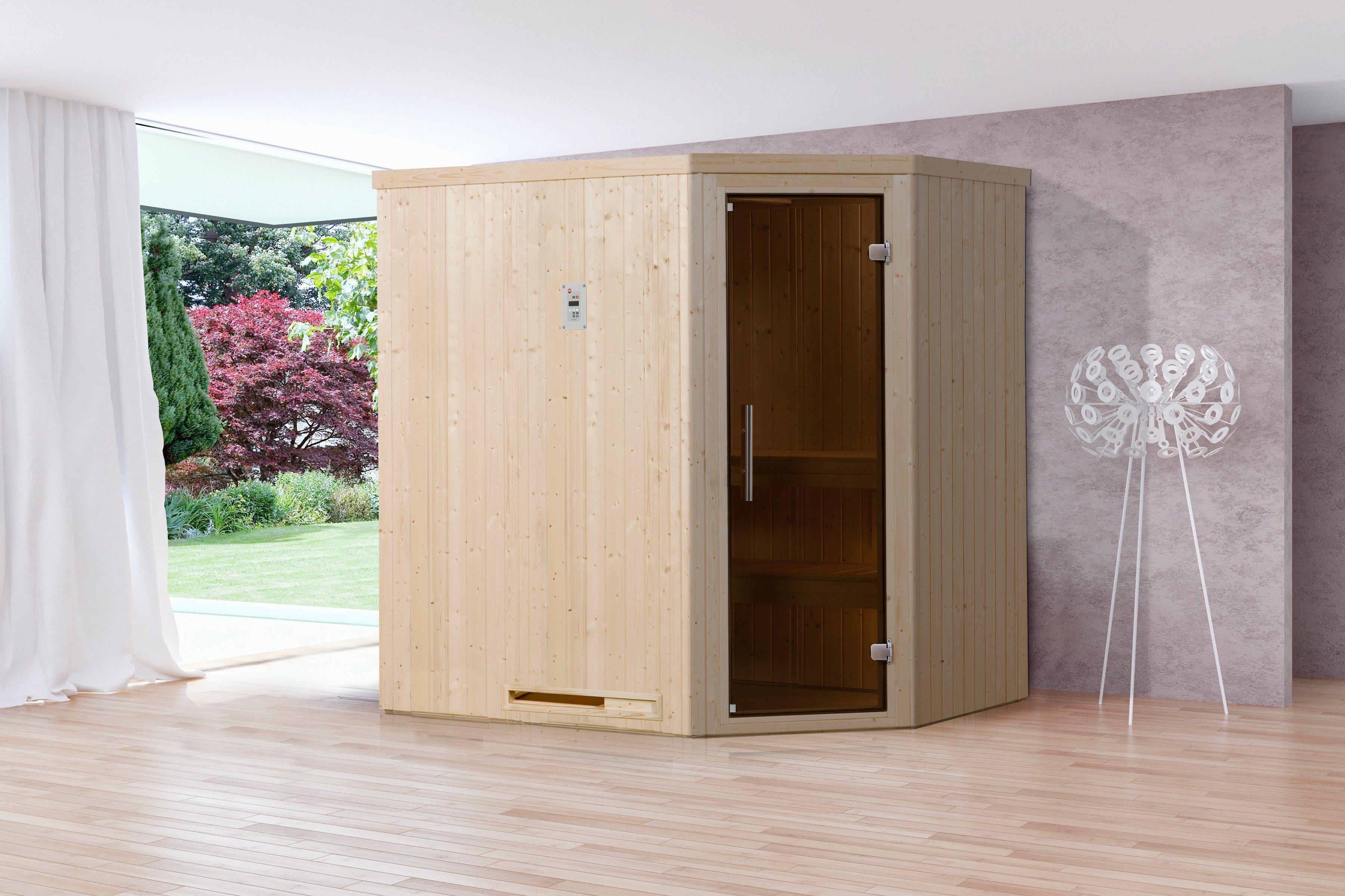 Sauna »Lyngdal 2 Trend BioS«, 192/141/199 cm, 68 mm, 7,5-KW-Ofen