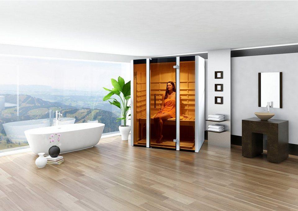Infrarotkabine »Style 1«, 139/99/190 cm, 50 mm, für bis zu 2 Personen in weiß