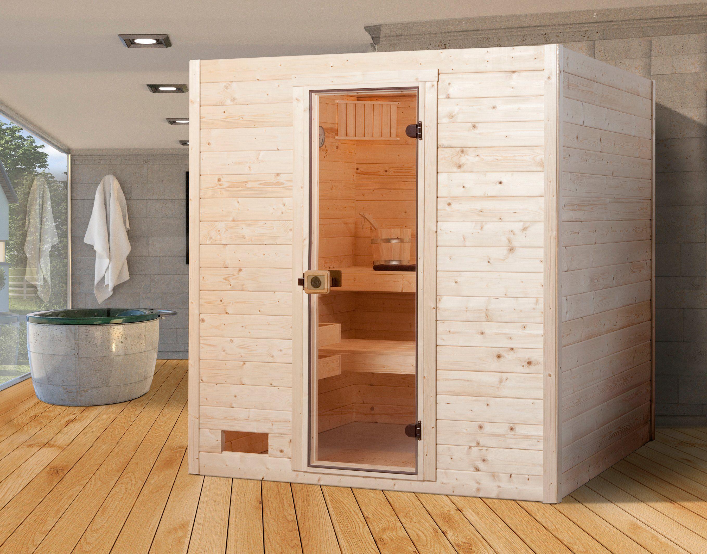 Weka Sauna »Vaasa 2«, 187/170/203,5 cm, 38 mm, 7,5-KW-Ofen