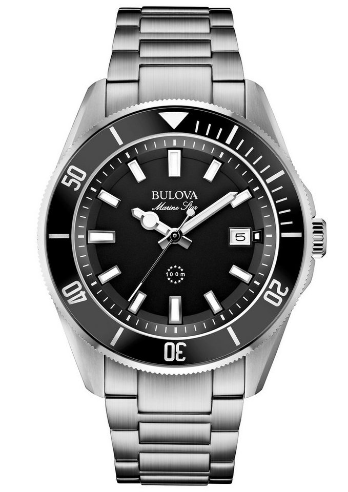 Bulova Quarzuhr »Marine Star, 98B203« in silberfarben