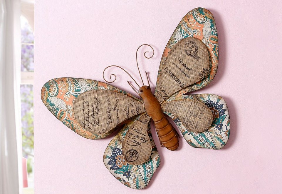 Wanddekoration Schmetterling