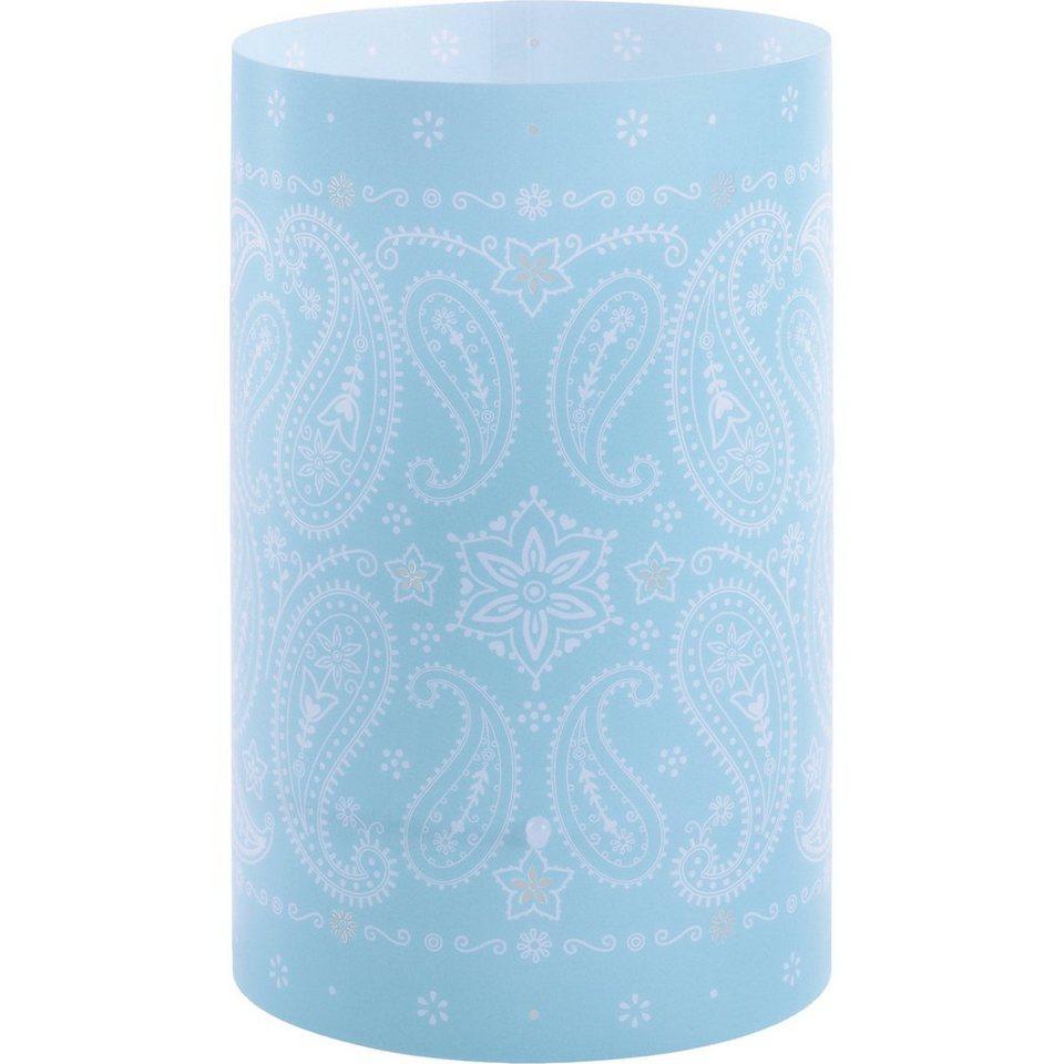 Dalber Tischlampe Ornamente, blau in blau