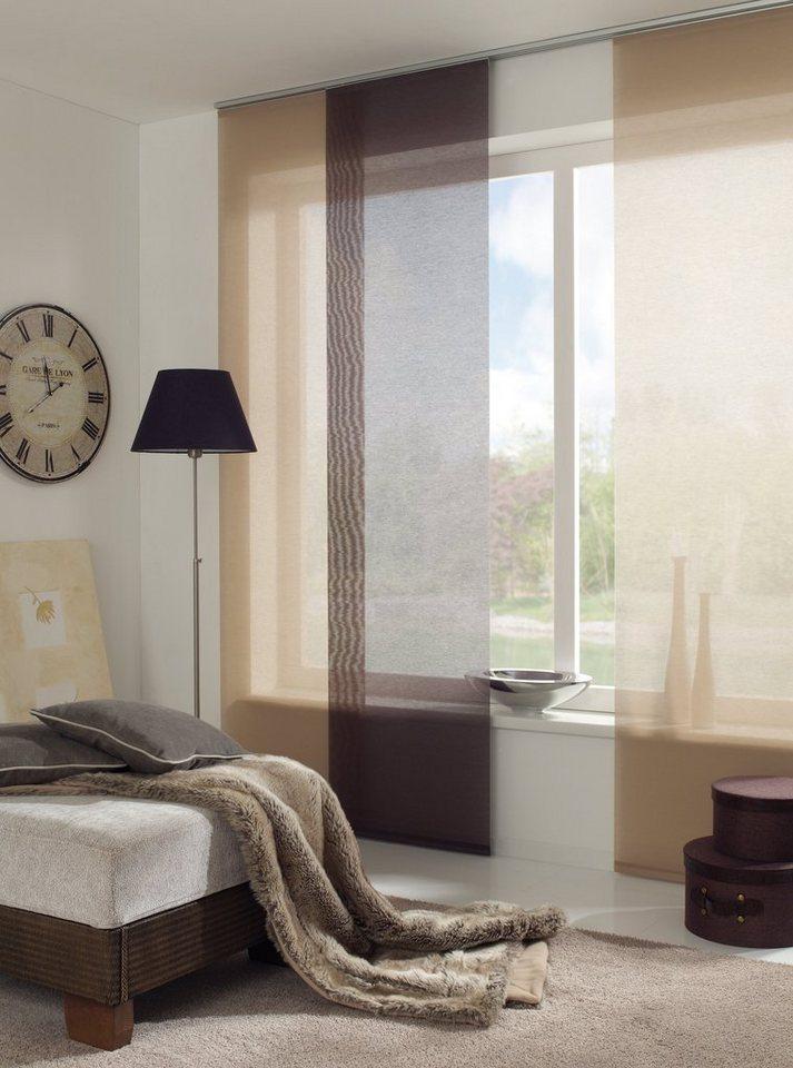 schiebegardine entry gardinia klettband 1 st ck mit wei em paneelwagen online kaufen otto. Black Bedroom Furniture Sets. Home Design Ideas