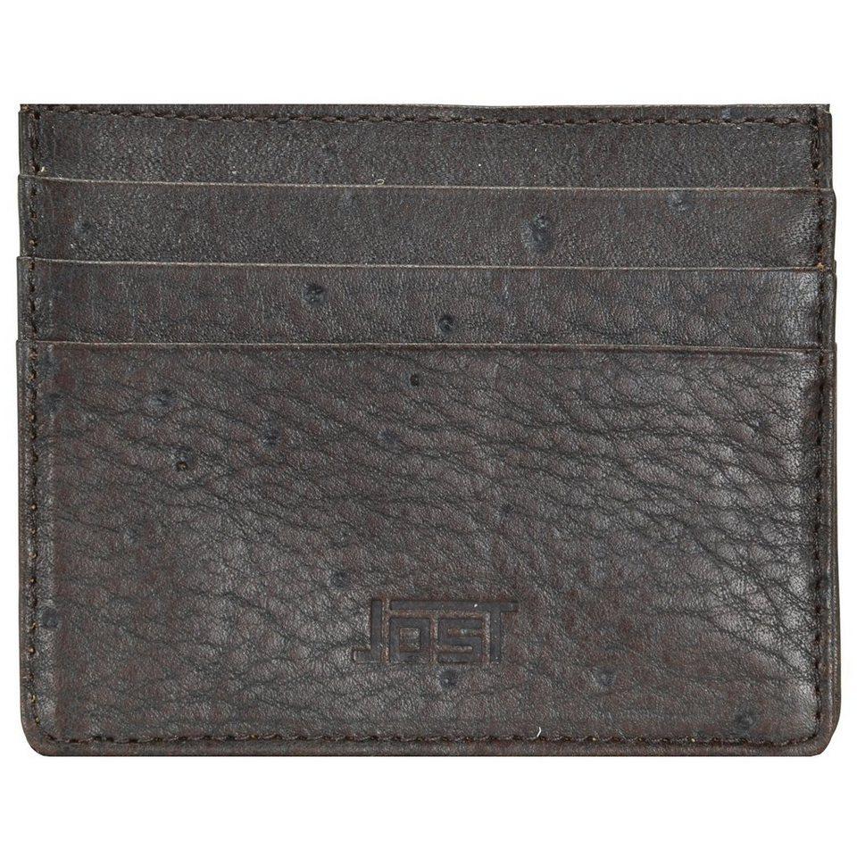 JOST Carlo Kreditkartenetui Leder 10 cm in braun