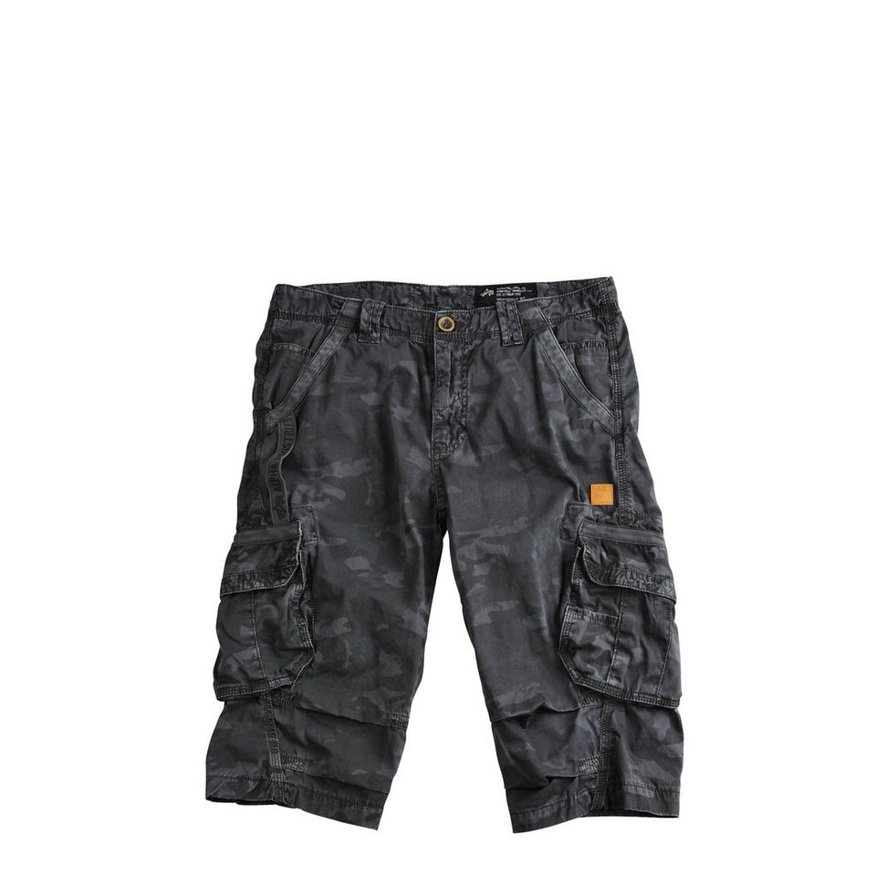 ALPHA INDUSTRIES Short »Imperial 3/4« in black camo