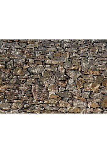 Fototapete, Komar, Stone Wall, 368/254 cm grau  